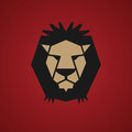 Lion symbol color abstract illustration Royalty Free Stock Images