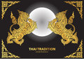 Lion thai tradition style vector Royalty Free Stock Photo