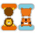 This is lion and tiger name tage.