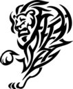 Lion in tribal style - vector illustration Royalty Free Stock Photo