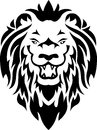 Lion tribal tattoo Royalty Free Stock Photos