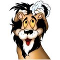Lion washing Royalty Free Stock Photo