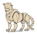 Lioness robot feline that resembles a mountain lion or puma Royalty Free Stock Photography