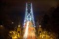 Lions Gate Bridge at Night Royalty Free Stock Photo