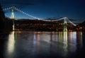Lions Gate Bridge Twilight Royalty Free Stock Photo