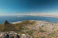 The lions head in cape town south africa Royalty Free Stock Image