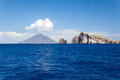 Lipari islands an image of the active volcano at italy Royalty Free Stock Photos