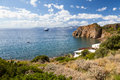 Lipari islands an image of the active volcano at italy Stock Photos