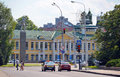 Lipetsk russia building tax inspection in lipetsk region at the revolution square Stock Images