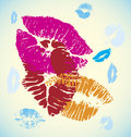 Lips chain abstract vector illustration Royalty Free Stock Photo