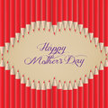 Lips kiss shape out of pencils mothers day Royalty Free Stock Photo