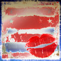 Lips On Patriotic Grunge Royalty Free Stock Photography