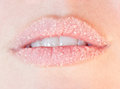 Lips and sugar Royalty Free Stock Images