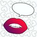 Lips with a talk bubble Royalty Free Stock Photo