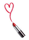Lipstick beauty make up heart love Royalty Free Stock Photo