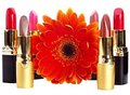 Lipstick group. Decorative cosmetics. Royalty Free Stock Image