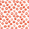 Lipstick kiss Royalty Free Stock Photo