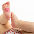 Lipstick Kiss On Newborn