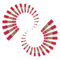 Lipstick pink color arrange spiral type set