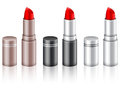 Lipstick set lipsticks on a white background Stock Image