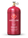 Liquefied acetylene industrial gas container Royalty Free Stock Photo