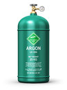 Liquefied argon industrial gas container Royalty Free Stock Photo