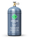 Liquefied nitrogen industrial gas container Royalty Free Stock Photo