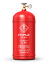 Liquefied propane industrial gas container Royalty Free Stock Photo