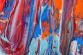 Liquid acrylic paint background. Fluid painting abstract texture