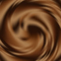 Liquid chocolate swirl background, abstract vector backdrop Royalty Free Stock Photo
