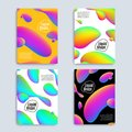 Liquid color covers set. Colorful bubble shapes with gradients. Trendy design. Royalty Free Stock Photo