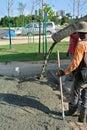 Liquid concrete mixing Royalty Free Stock Photo