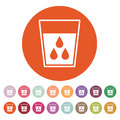 The liquid in glass icon. Water and drink, aqua symbol. Flat Royalty Free Stock Photo