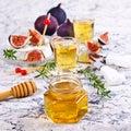 Liquid golden honey Royalty Free Stock Photo