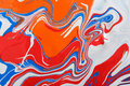 Liquid marbling acrylic paint background. Fluid painting abstract texture Royalty Free Stock Photo