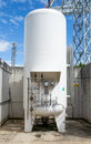 Liquid nitrogen tank Royalty Free Stock Photo