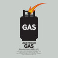 Liquid propane gas vector illustration Stock Image