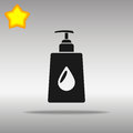 Liquid soap black Icon button logo symbol