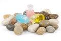 Liquid soap, gel, shampoo, oil Royalty Free Stock Photo