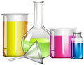 Liquid substance in glass containers