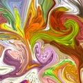 Liquid vector art. Creative background