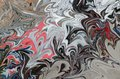 Liquify Abstract Pattern With Black, Coral And Grey Graphics Color Art Form. Digital Background With Liquifying Flow Royalty Free Stock Photo