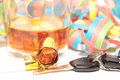 Liquor and car keys Stock Photos