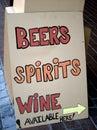 Liquor store sign Stock Photos