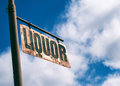 Liquor Vintage Rusted Sign Royalty Free Stock Photo