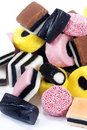 Liquorice Allsorts Candies Stock Images