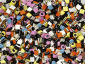 Liquorice allsorts colourful shot from the top Stock Photography