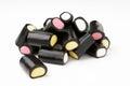 Liquorice pencils Stock Images