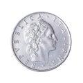 Lira italian isolated on a white background Stock Image