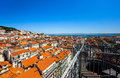 Lisboa bird fly view portugal summer sunny day Stock Images